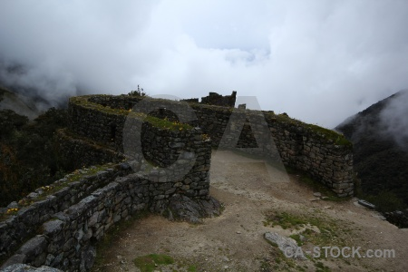 Inca peru altitude mountain ruin.