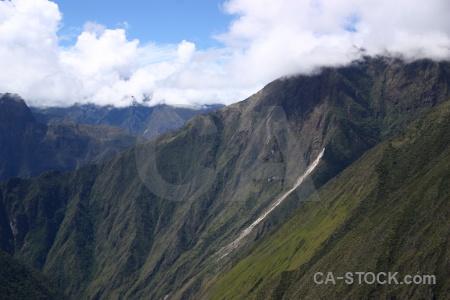 Inca sky cloud andes landscape.