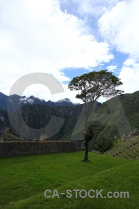 Inca south america grass altitude ruin.