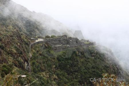 Inca trail cloud andes altitude peru.