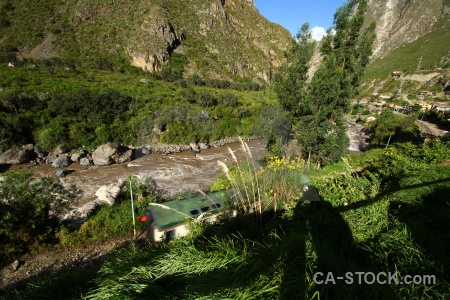 Inca trail mountain km82 river urubamba.