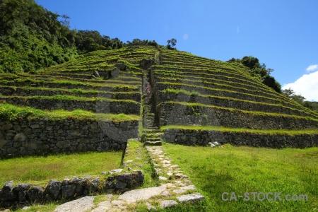Inca trail stone peru intipata terrace.