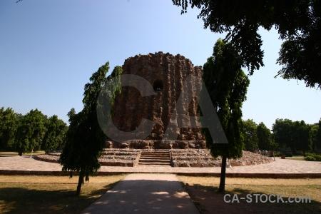 India monument unesco brick grass.