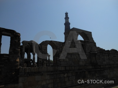 India sky qutub minar tower new delhi.