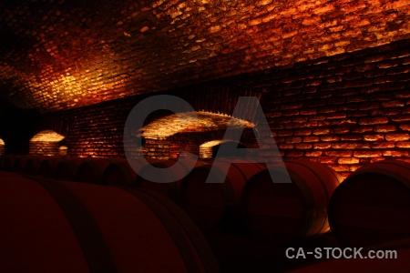 Inside barrel vineyard chile south america.
