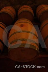 Inside cellar barrel winery south america.