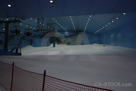 Inside mall of emirates skiing dubai western asia.