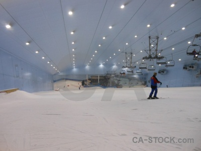 Inside snow uae lift ski.