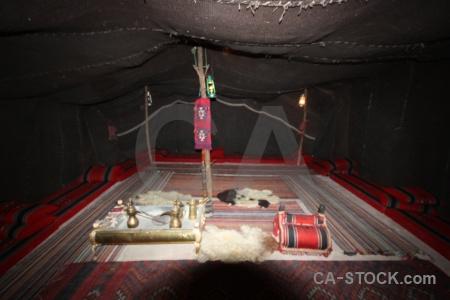 Inside tent asia middle east jordan.