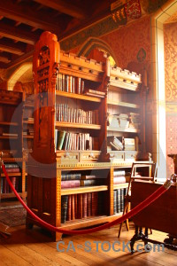 Interior bookshelf object furniture building.