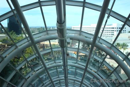 Interior building cyan.