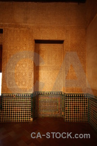 Interior granada fortress building alhambra.