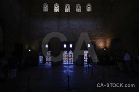 Interior palace granada la alhambra de fortress.