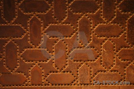 Interior palace orange pattern alhambra.
