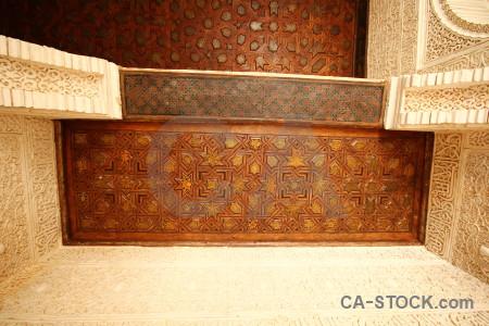 Interior texture alhambra palace la de granada.
