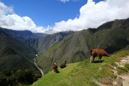 Intipata landscape altitude inca trail sky.