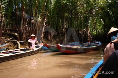 Island boat vehicle mangrove vietnam.