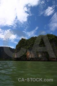 Island cliff limestone southeast asia sky.