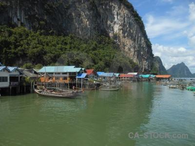 Island floating cliff limestone asia.