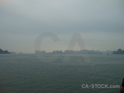 Island ha long bay southeast asia sky water.