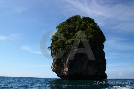 Island limestone tree cloud asia.