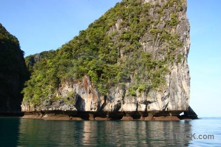 Island sea asia cliff sky.