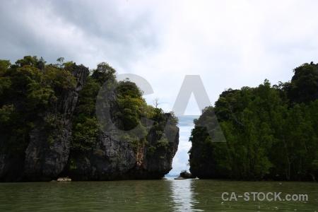 Island sky limestone southeast asia phang nga bay.
