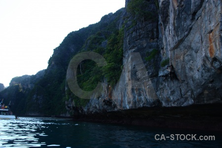 Island sky rock limestone asia.