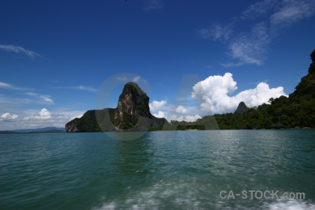 Island southeast asia cloud water phang nga bay.