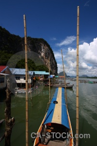 Island southeast asia thailand floating village.