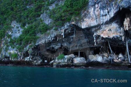 Island tropical thailand water limestone.