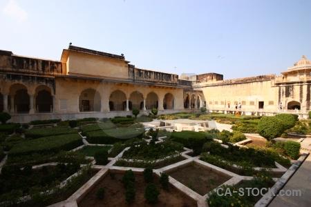 Jaipur courtyard sky building garden.