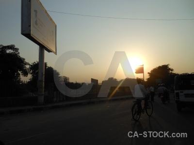 Jaipur silhouette asia sunrise south.