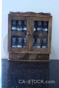 Jar bottle scientific glass cabinet.
