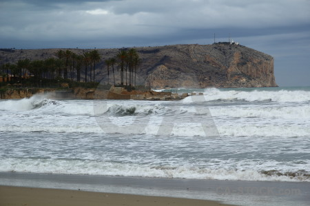 Javea beach wave spain arenal.