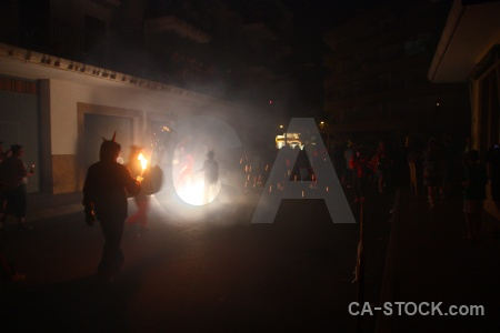 Javea black firework spain correfocs.