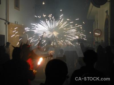 Javea building correfocs firework fiesta.