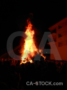 Javea building fiesta flame fire.