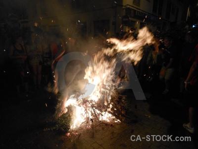 Javea building fire flame fiesta.