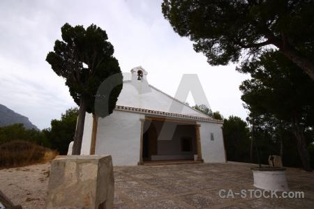 Javea building sky ermita de santa lucia spain.