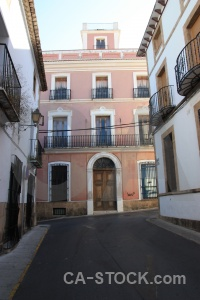 Javea building spain white road.