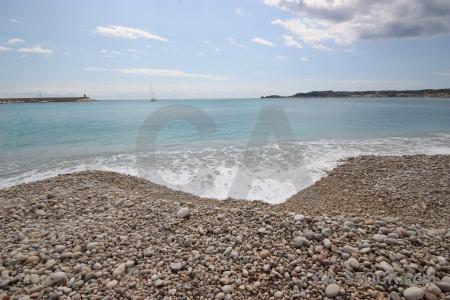 Javea cloud europe sea stone.