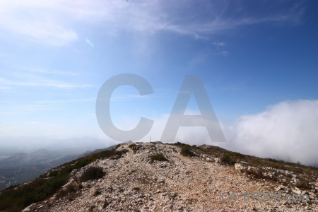 Javea cloud plant rock montgo.