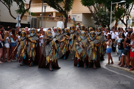 Javea costume christian person fiesta.