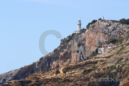 Javea europe cliff spain lighthouse.
