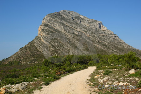 Javea europe montgo climb spain path.