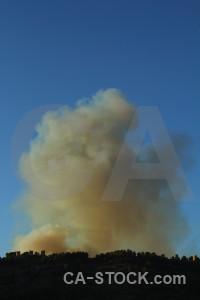 Javea europe montgo fire smoke spain.