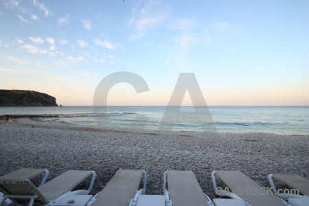 Javea europe sea stone deckchair.