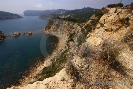 Javea europe sky cliff plant.