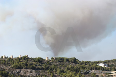 Javea europe smoke spain montgo fire.
